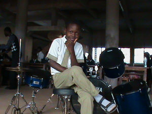 2013 Student with new drum set courtesy of Staff of Benesure Canada Inc1.JPG