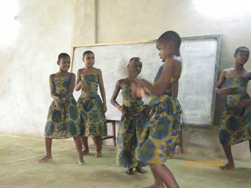 2014 Form one students performing on Mother Tongue Day