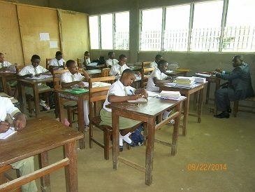 Form Three students in class Sept 2014